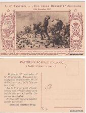 # 6° REGGIMENTO FANTERIA A COL DELLA BERRETTA 22-26 NOV. 1917