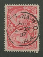 """CANADA #53 USED JUBILEE B.C. TOWN CANCEL """"VICTORIA"""" DATED SON CDS (.2)"""