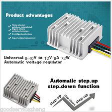 8-40V to 12V 6A DC Voltage Stabilizer 72W Car Power Supply Regulator Waterproof