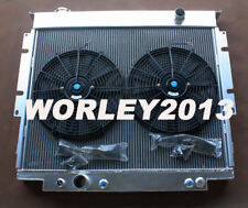 3 core aluminum radiator + fan for Ford F250 F350 V8 Diesel 6.9 7.3 1983-1994