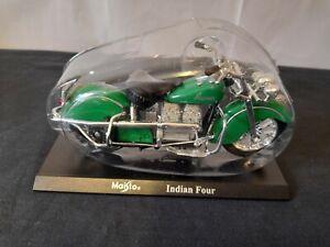Indian Four Maisto Hachette 1941 Diecast Model 1:18 Scale Green