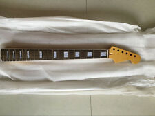 New Top grade electric guitar parts Guitar Neck white block inlay