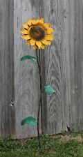"""32"""" Small Metal Sunflower Stake Garden and Lawn Flower Ornaments"""