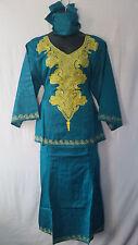 African Women Clothing Skirt Suit Dashiki Attire H Green Free Size Print # 9323