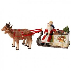 Villeroy & Boch CHRISTMAS TOYS Sled with Santa #5498