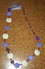 Neue Halskette / Modeschmuck lila weiß