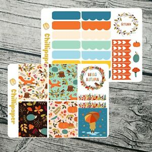 October kit / Autumn Planner Stickers / Fall planner sticker / Happy Planner