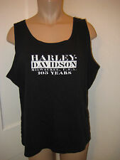 Harley Davidson XXL black tank top 105 yrs house of Harley logo knit top cotton