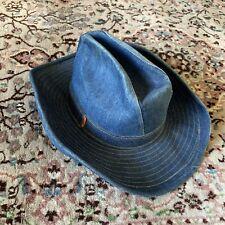 2c9d080cf2c19 RARE Vintage Levis Orange Tab Denim Cowboy Hat Blue Custom Levi Strauss  Jeans