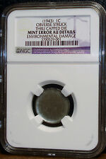 NGC GRADED SEE IT TO BELIEVE IT 1943 Steel Cent Capped Die Obverse, AU Details