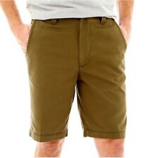 """St Johns Bay Mens Size 40 Legacy Flat Front Short 10"""" Inseam Green Mountain  NWT"""