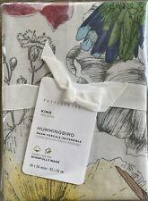 New Pottery Barn Reversible Hummingbird King Size Pillow Sham