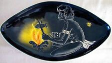 The Little Sydney Pottery Australia Aboriginal Woman Cooking Fish Hand Painted