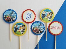 Lego City personalised 12 pack cupcake toppers picks