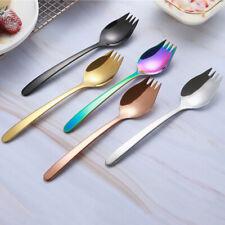 2 in 1 Stainless Steel Spork Salad Noodles Fork Spoon Home Tableware