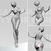 YUFAN 1/35 Sexy Beautiful Girl Resin Soldier Model Unpainted DIY White