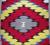 "Navajo Rug Eye Dazzler Late Transitional Blanket 32"" x58"" Native American Indian"