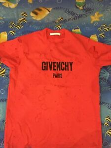 Givenchy red t-shirt distressed
