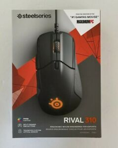 SteelSeries Gaming Mouse Rival 310 Black 62433 PC/Mac Factory Sealed In Box New!