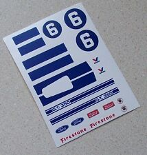 ELDON revell 1/32nd Scale Slot Car Waterslide Decals #6/9 FORD MUSTANG GT