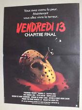 AFFICHETTE DE CINEMA 52 X 39 DU FILM VENDREDI 13 CHAPITRE FINAL - 28