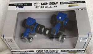 New Holland 2018 Farm Show Heritage Collection 2 Piece Set In 1/64 Scale.