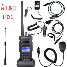 Ailunce HD1 DMR Dual Band UHF/VHF10W Transceivers 2-Way Radio+ HD1's Accessories