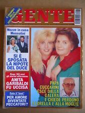 GENTE n°39 1993 Lorella Cuccarini Anita Garibaldi Irene Grazioli [G584]
