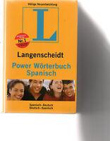 Langenscheidt Power Wörterbuch Spanisch: Spanisch-Deutsch/... | Buch Nr. 1