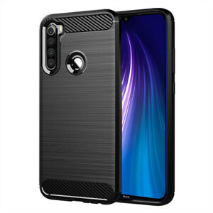 """Étui de Protection Pour Xiaomi Redmi Note 8 6.3 """" Silicone Carbone Fibre Brossé"""