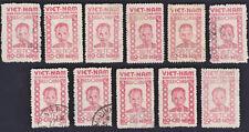 VIETNAM NORTH 1946 Sc L58 x 11 used F/VF