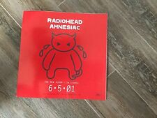 RARE RADIOHEAD AMNESIAC PROMO STICKER W/ RELEASE DATE 10 x 10 NEVER DISPLAYED