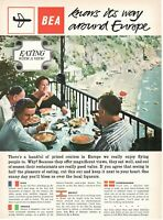 1962 Advertising' Vintage Bea Airways Airlines British Eating With IN View