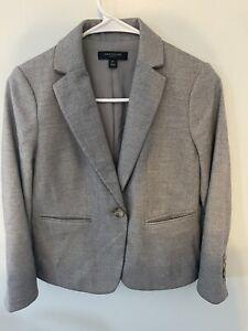 ANN TAYLOR PETITE Wool Blend Gray Blazer Size 00P