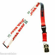 Star Wars Boba Fett Costume Lanyard ID Holder with Rubber Charm