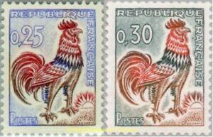 EBS France 1962 - Gallic Cock - Coq de Decaris - YT 1331-1331A MNH**