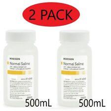 Normal Saline USP Solution Sodium Chloride 0.9%Solution Bottle,500mL PACK OF 2