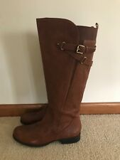 naturallizer Leather Boots Size 7,5 NWT Adjustable Calf .Retail 199$