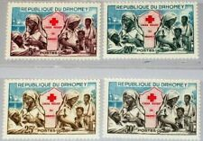 DAHOMEY 1962 196-99 156-59 Red Cross Rotes Kreuz Nurses Schwestern MNH