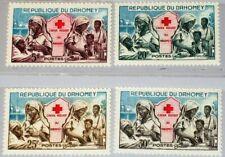 DAHOMEY 1962 196-99 156-59 Red Cross Rotes Kreuz Nurses Schwestern MNH