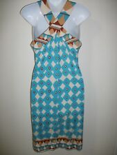 Diane von Furstenberg Silk Blue Print Dress Sz S