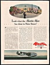 1944 WWII MARTIN MARS  Aircraft AD The plane of tomorrow...Flying today
