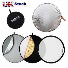 "Selens 5 in 1 32"" Photo Lighting Collapsible Reflector Board Panel + 2 Handle UK"