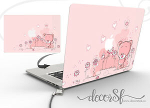 Teddy Bear Design Wrap Skin Sticker for Macbook 13 Laptop Cover Decal