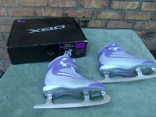 Nib Dbx Acceleration Purple and White Figure Ice Skates Women's 6