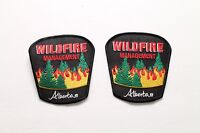 Alberta Wildfire Management Shoulder Patch Flash - Set of 2- Firefighting Canada