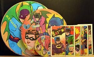 LOT 17 Vintage 1950s 1960s Japanese Menko BATMAN & ROBIN & Villians Cards Discs