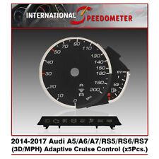 3D Speedometer Faceplates Fits a 2014-2017 Audi A5/A6/A7/RS5/RS6/RS7 x5Pcs./MPH
