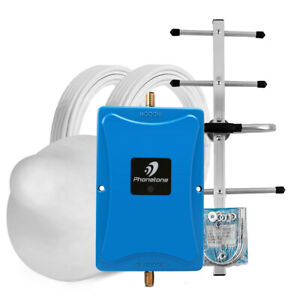 850MHz 80dB Cell Phone Signal Booster Band 5 Repeater Ceiling +Yagi Antenna Kit