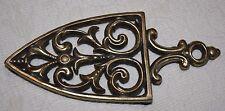 """Kitchen Trivet~Brass Gold~8"""" x 3 1/2""""~T-204 Stamp"""